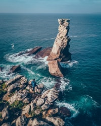 rock formation view on the ocean