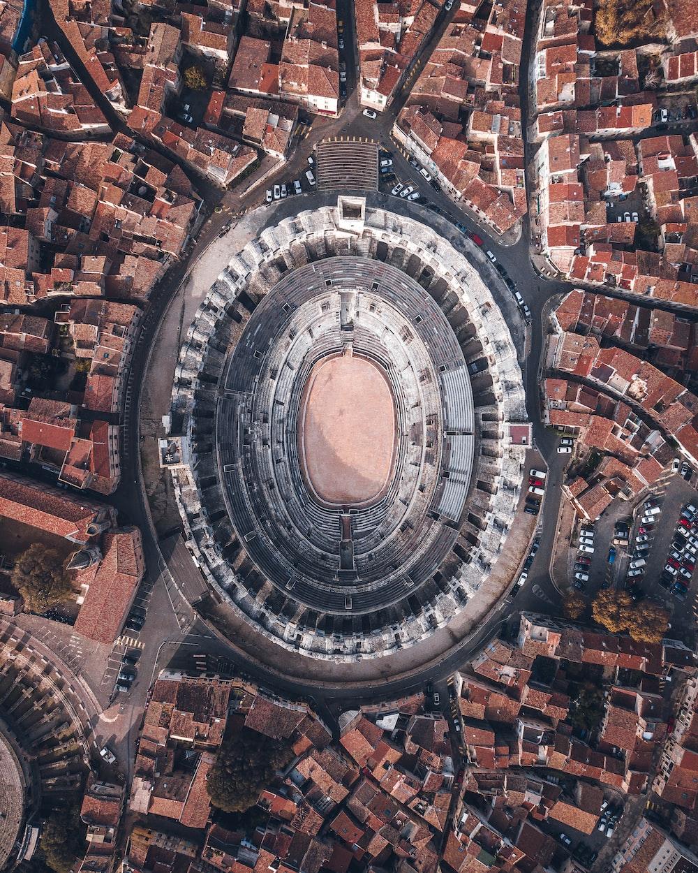 aerial view of stadium during daytime