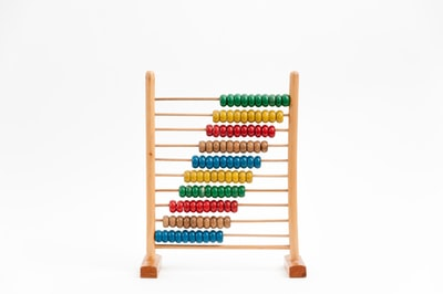 multicolored abacus math teams background
