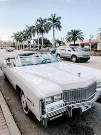 white Cadillac El Dorado parked near curb during daytime