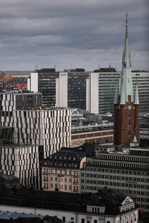 concrete high-rise buildings