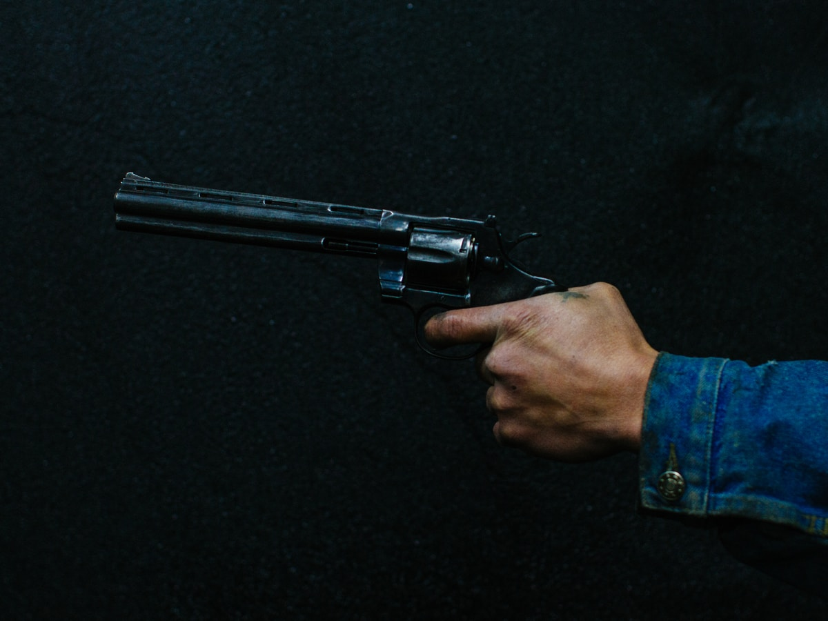MyHeritage, person holding revolver