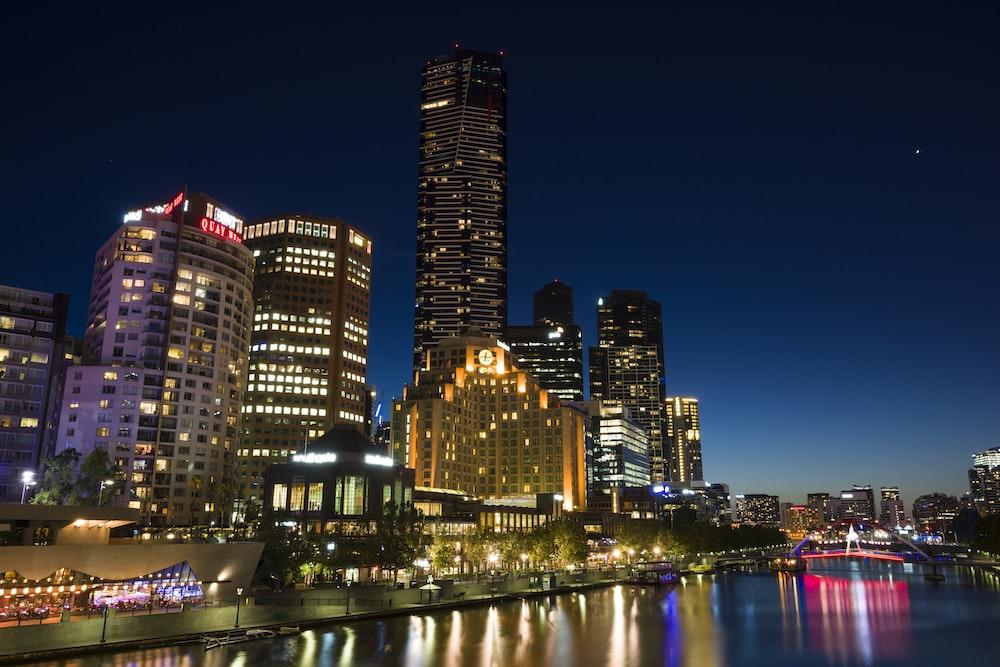 city skyline photography of buildings
