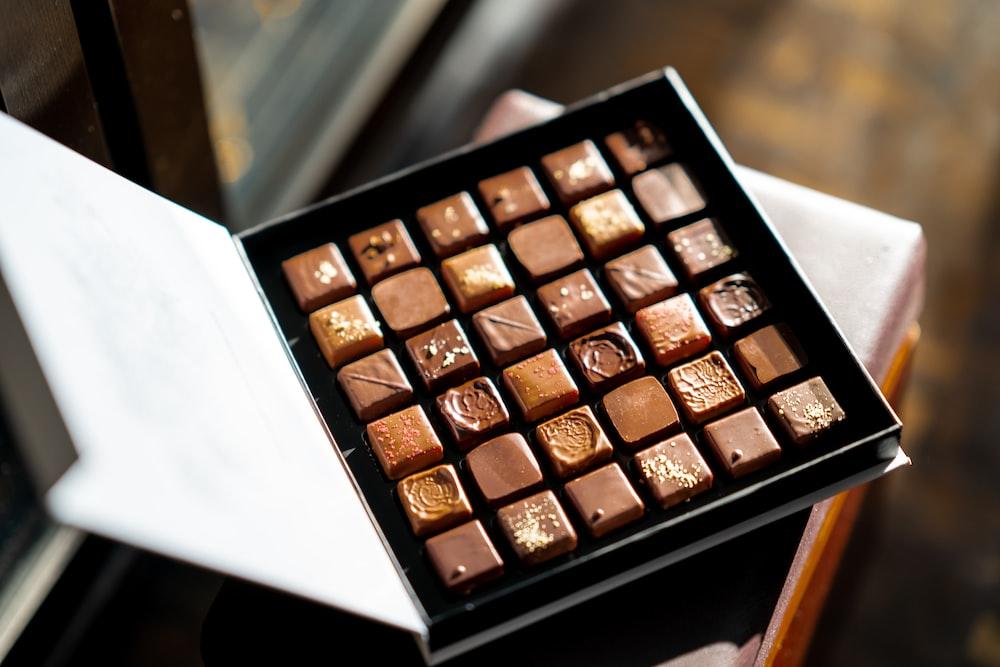 opened box of chocolate