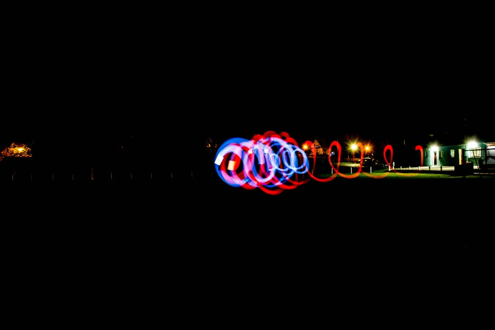 timelapse photography of lights