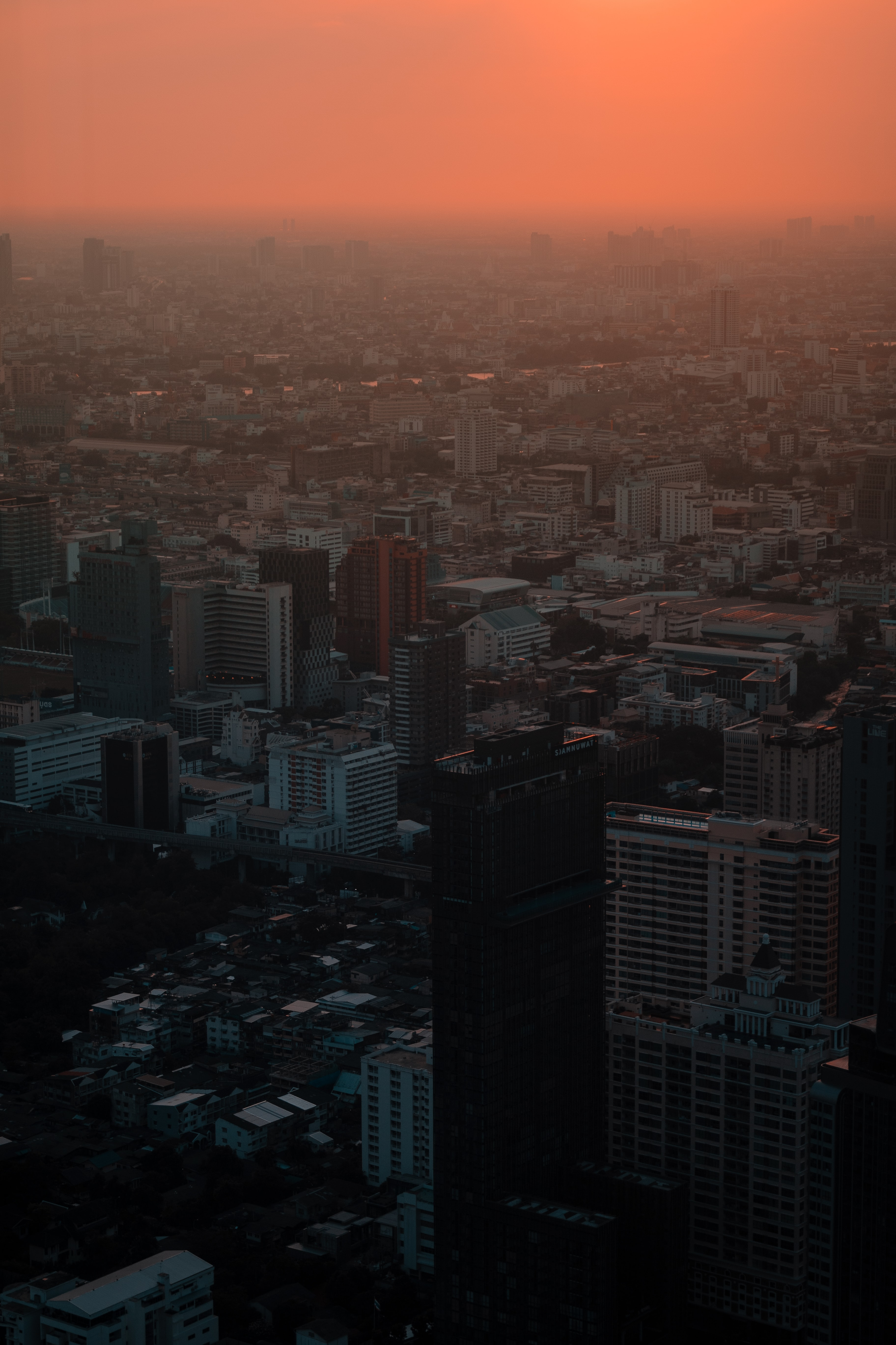 aerial picture of high rise building during sunset