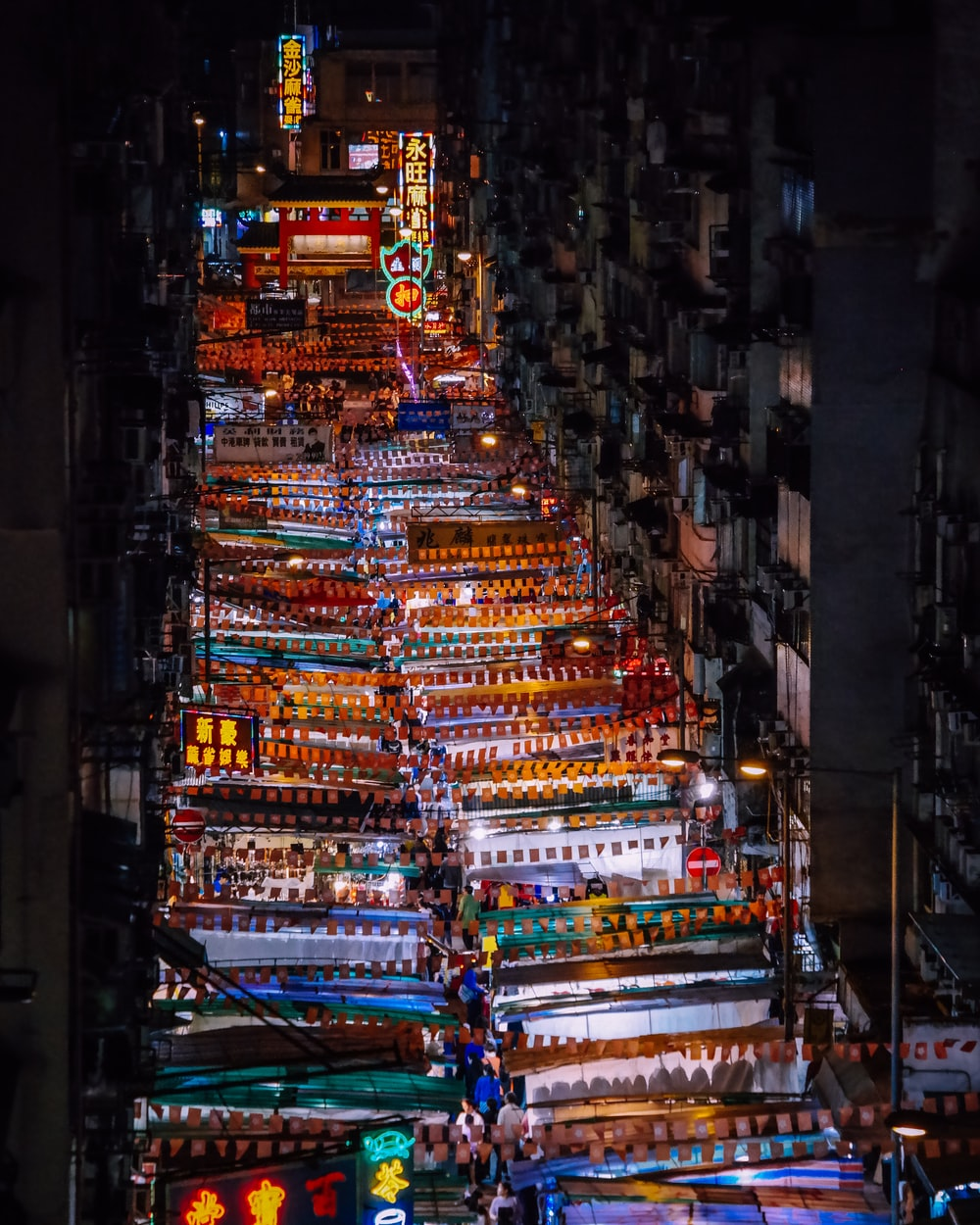 aerial view of market