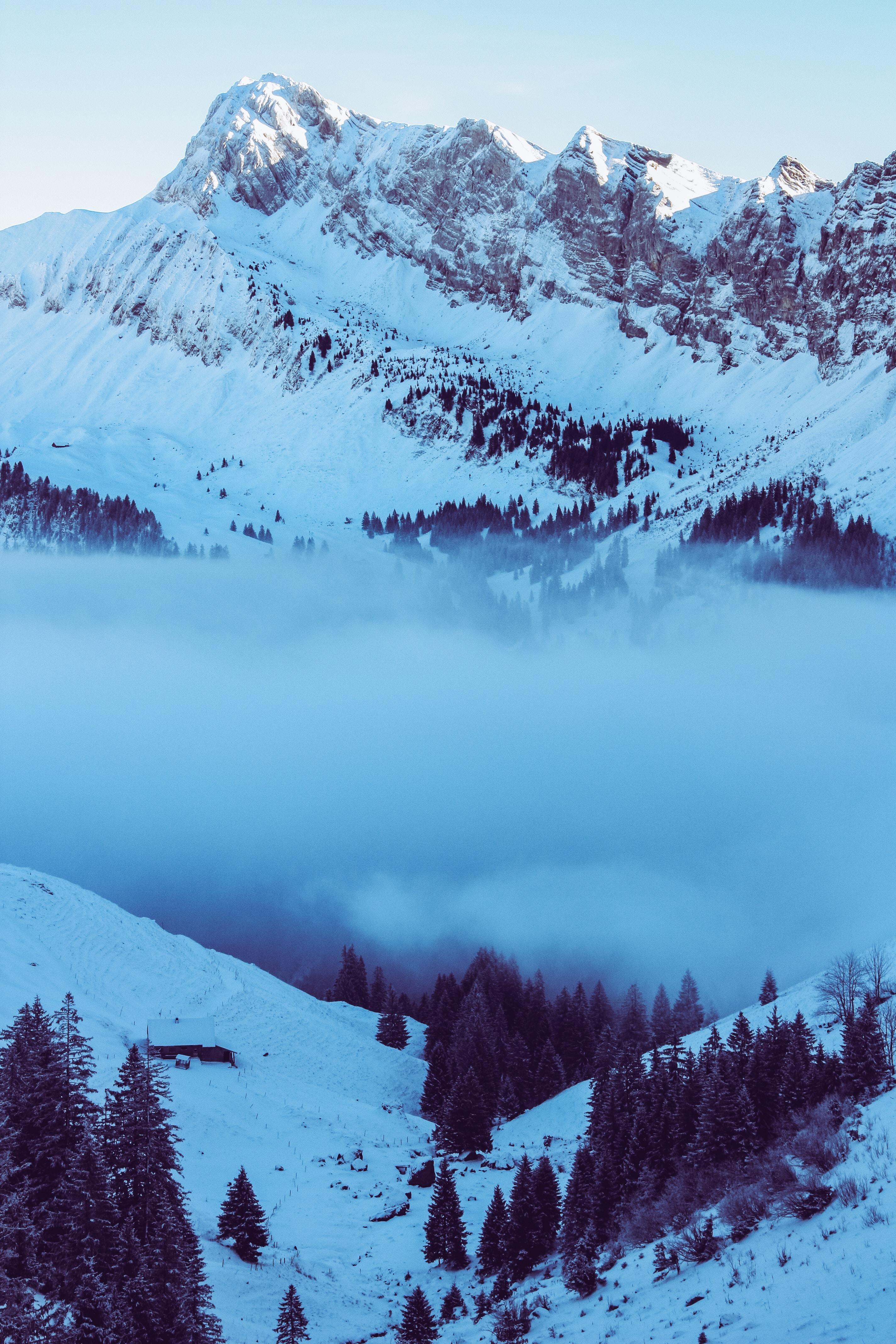 snow-cape mountain