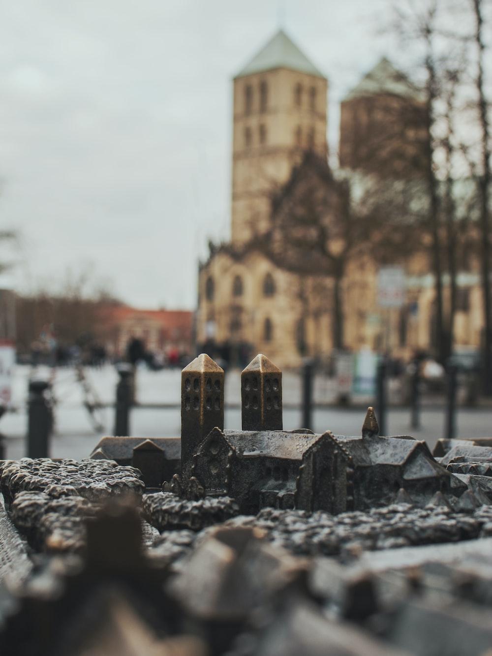 grey village miniature