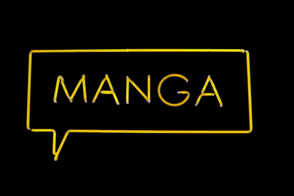 Manga neon signage