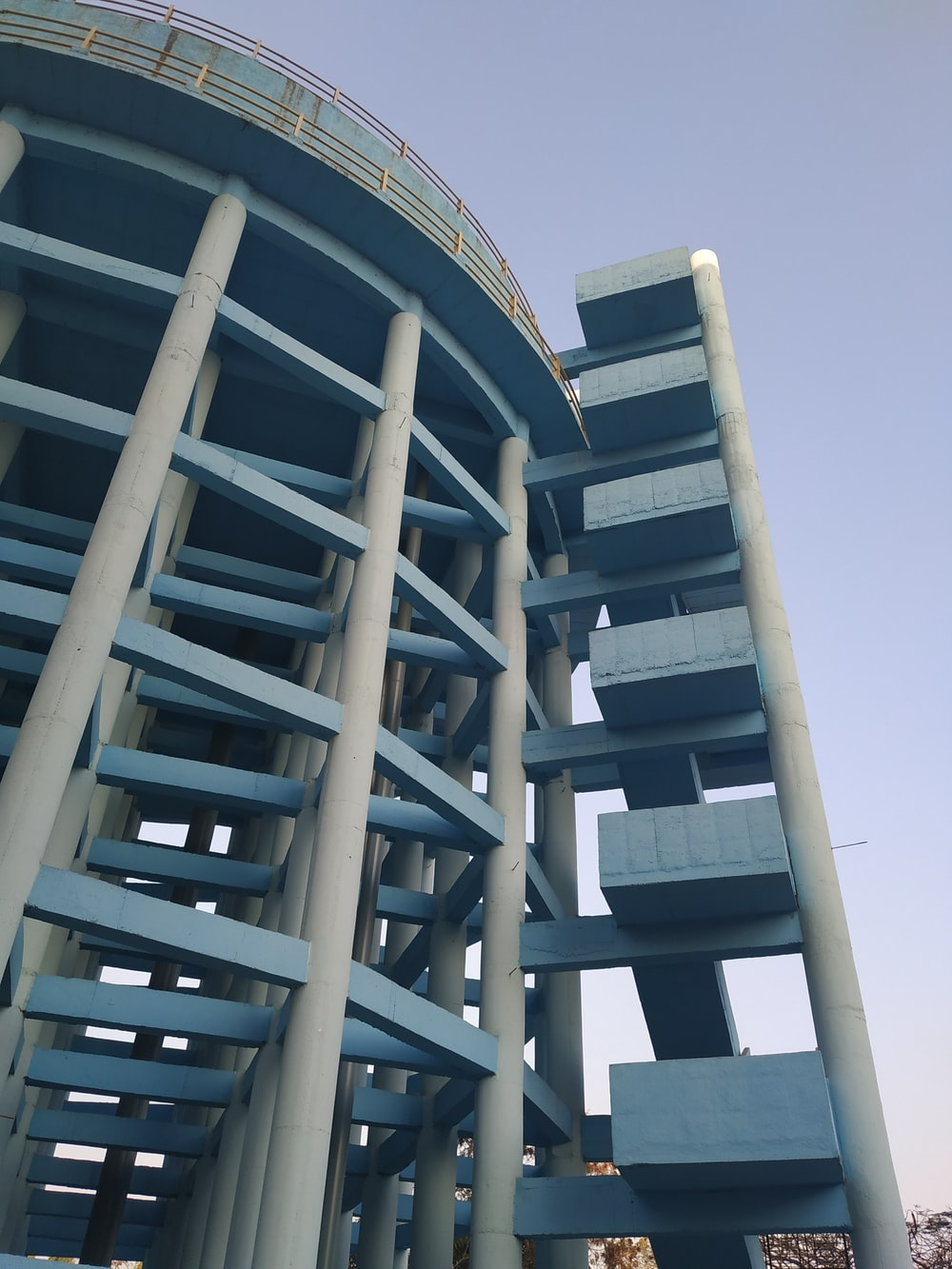 blue and white building during daytime