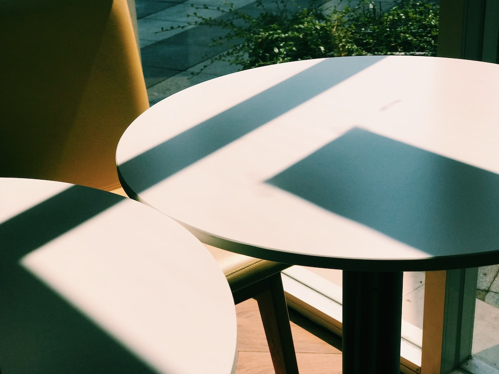 round white wooden table