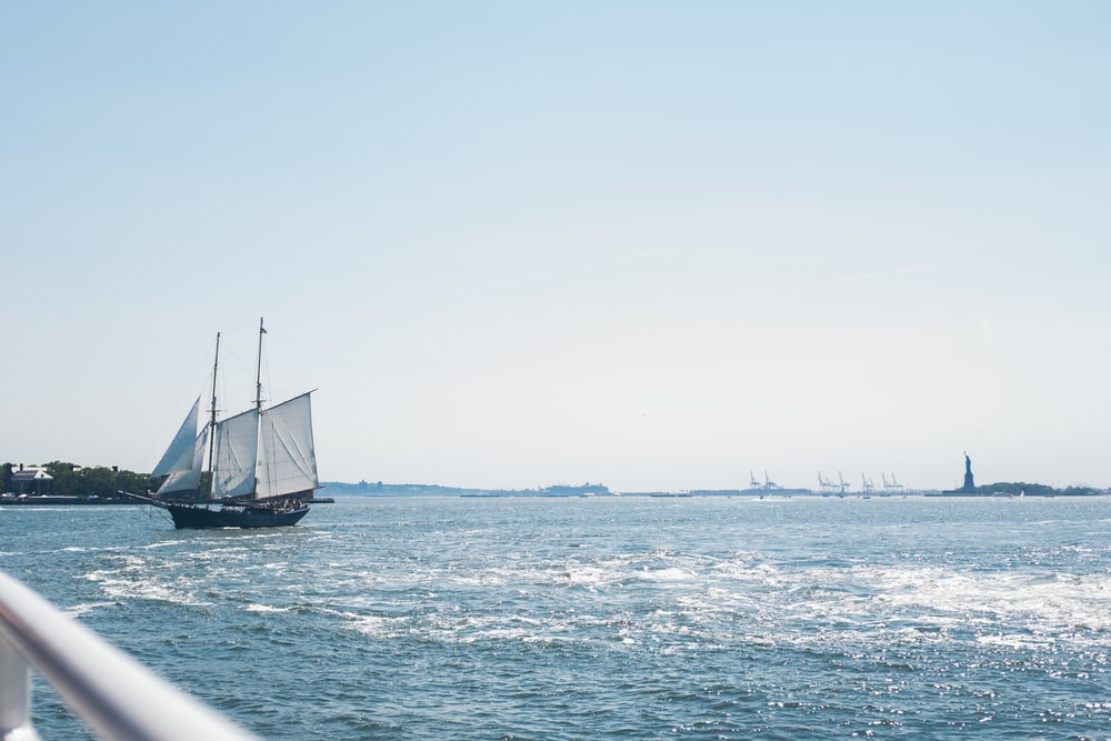 brown sailship on body of water during daytime