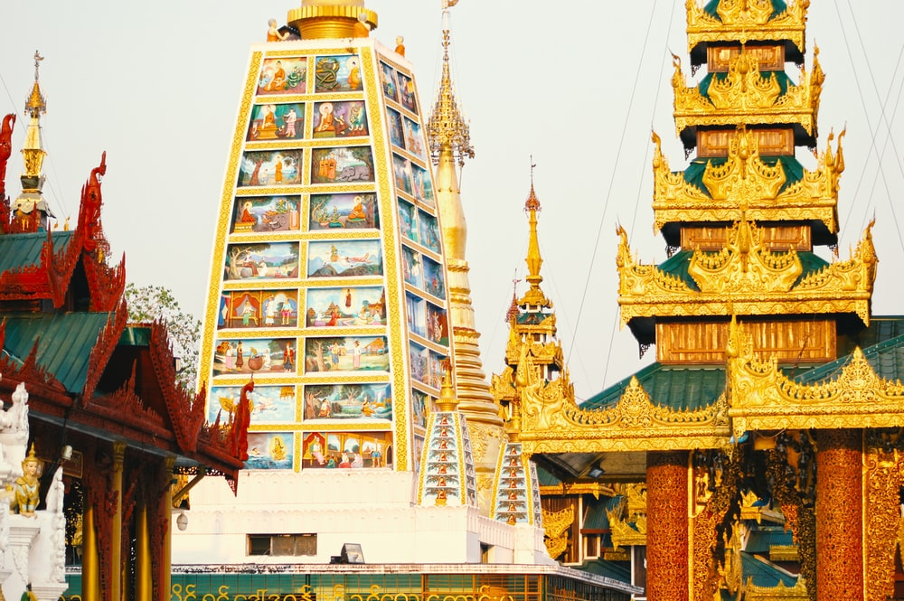 gold and orange temple during daytime