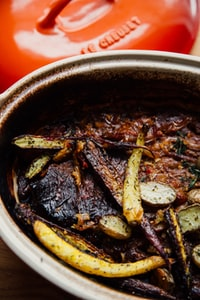 Dutch Oven Pot Roast with Carrots and Potatoes