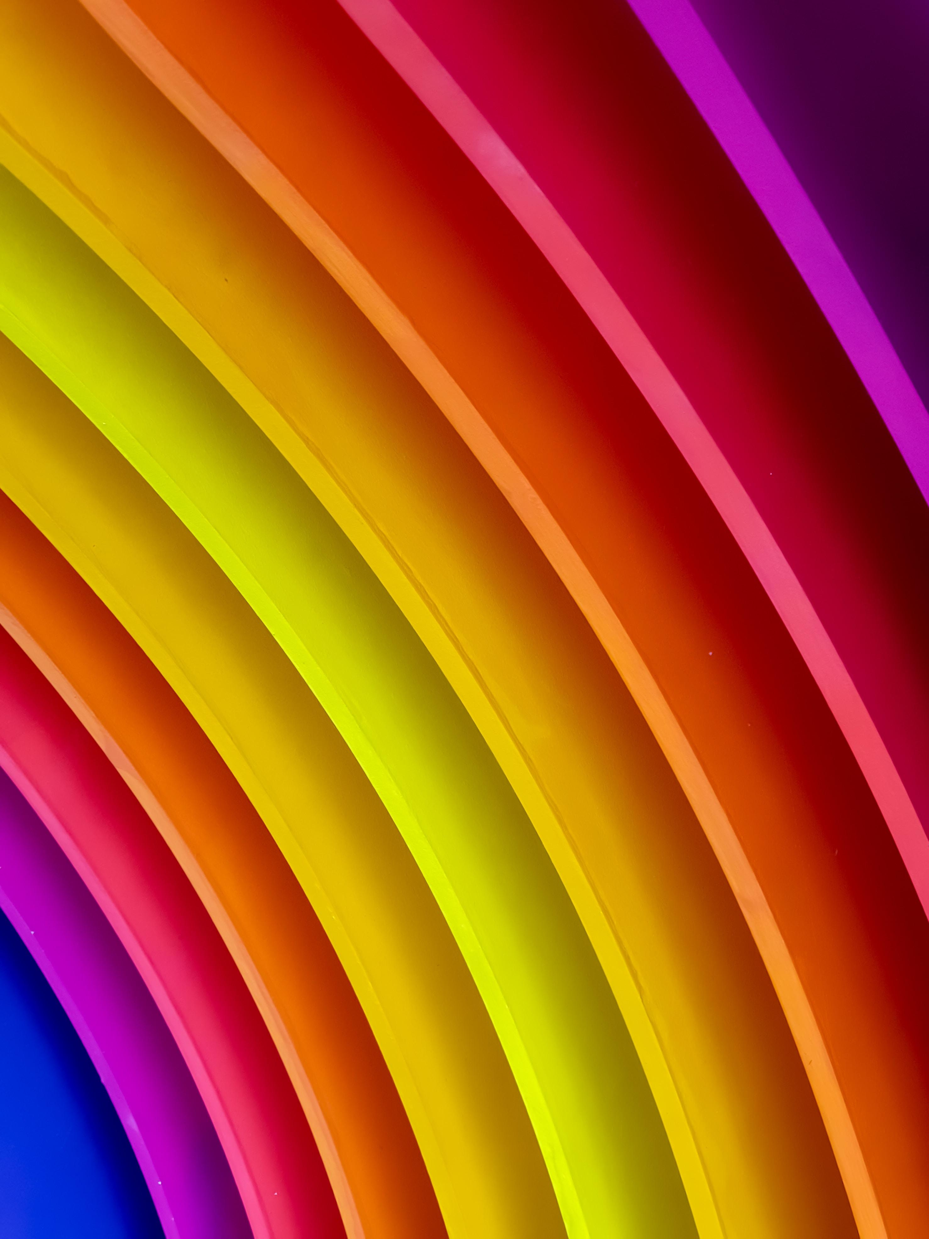 purple, red, and yellow rainbow column