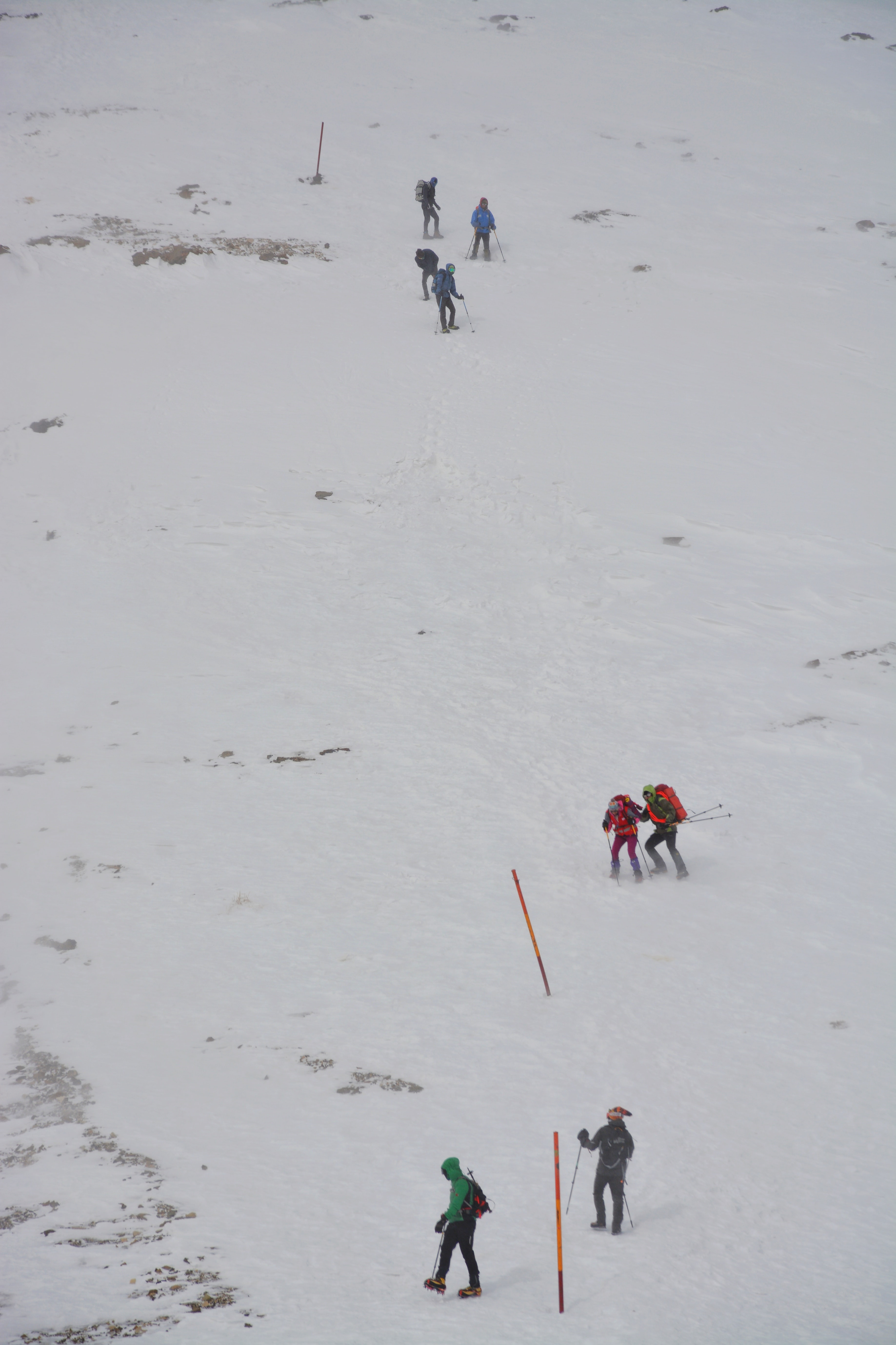 people on white snow covered field