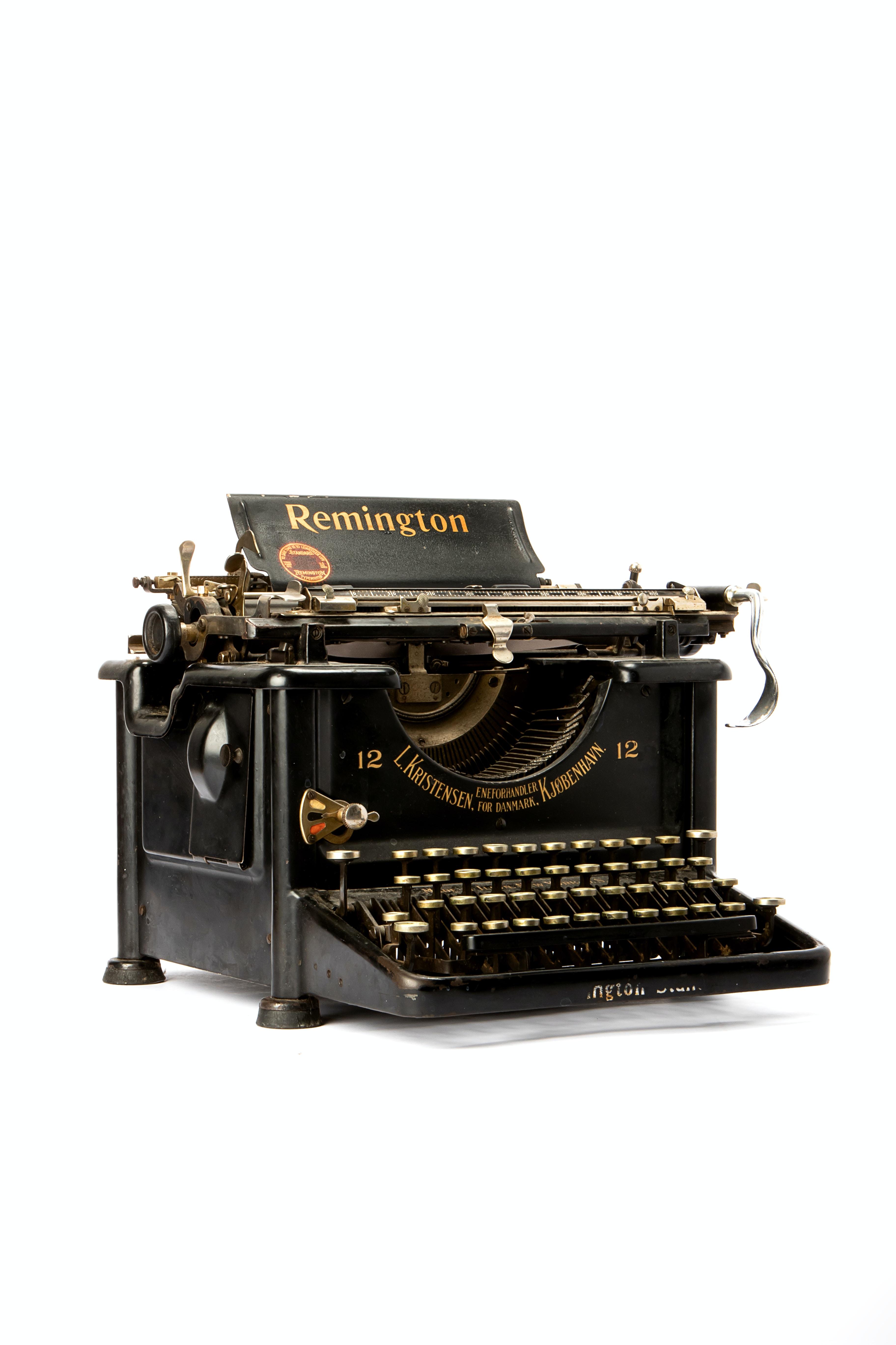 classic black Remington typewriter