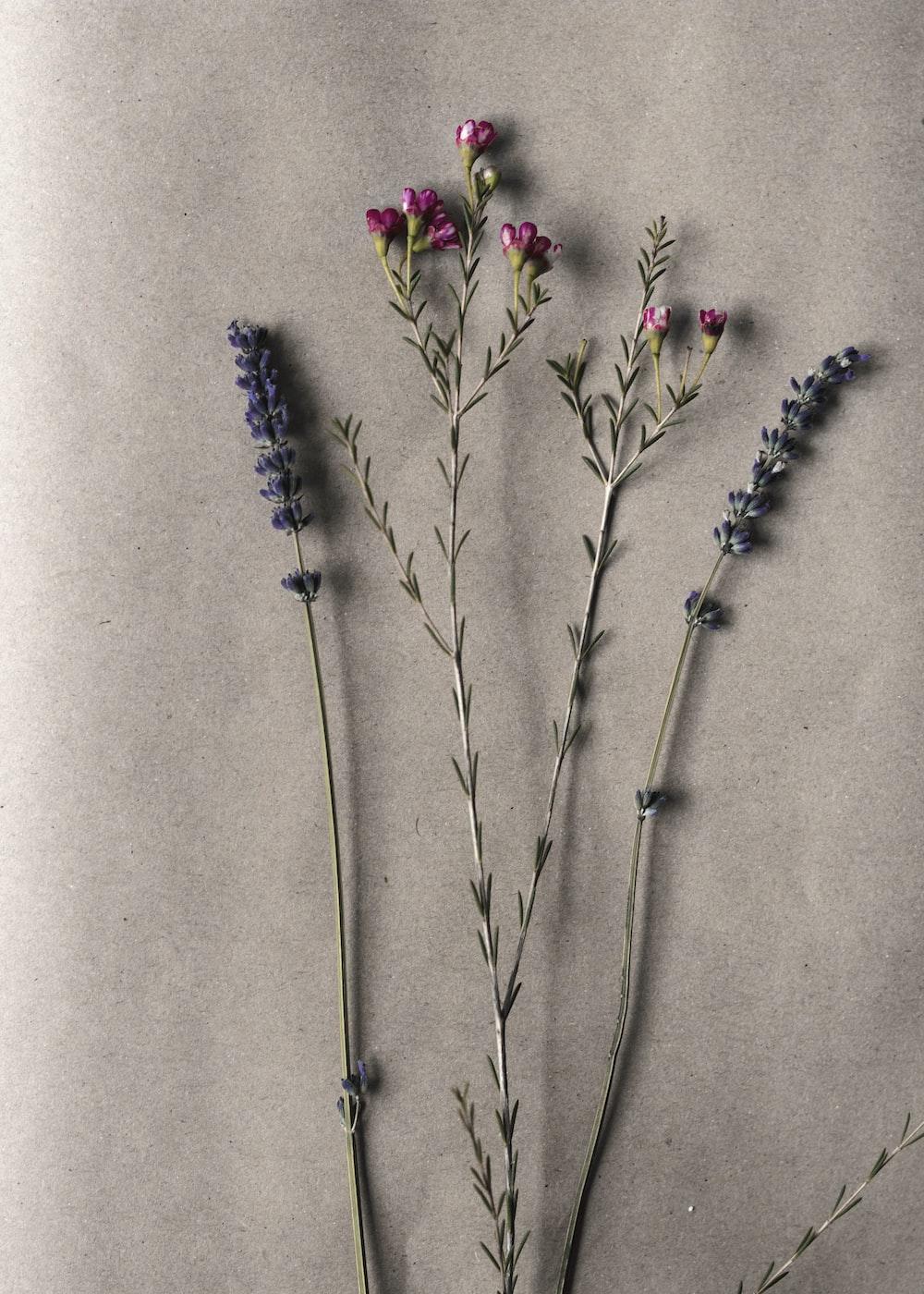 four artificial flowers
