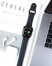 aluminum case Apple watch black sports band
