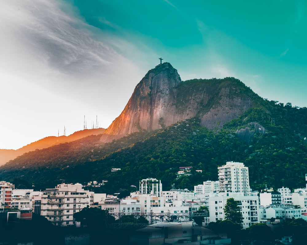 Rio De Janero, Brazil under blue skies