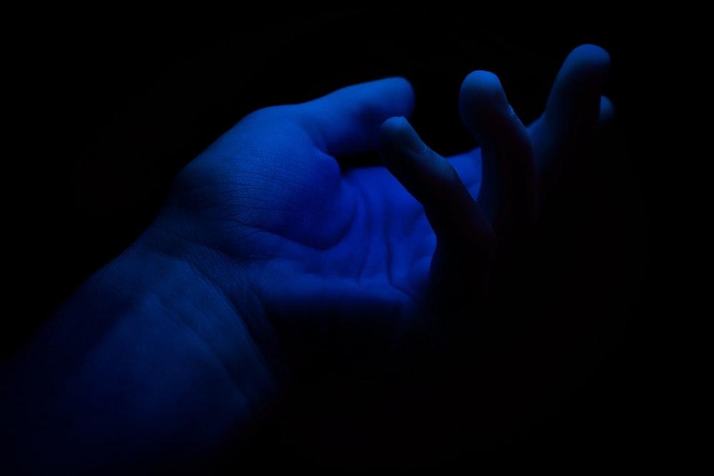 left person's palm