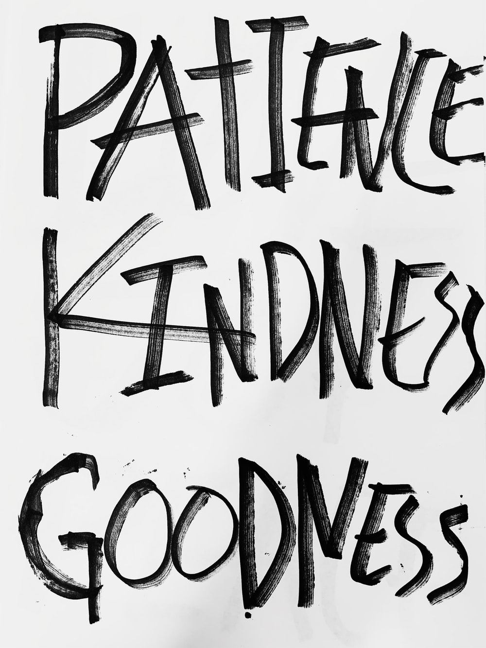 patience kindness goodness text