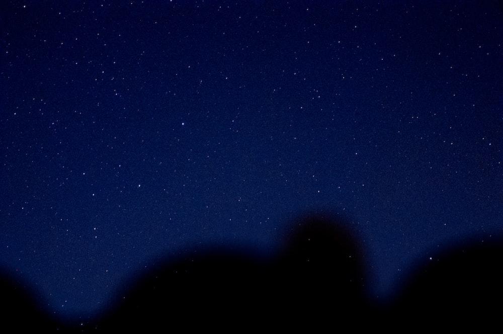 blue sky during nighttime