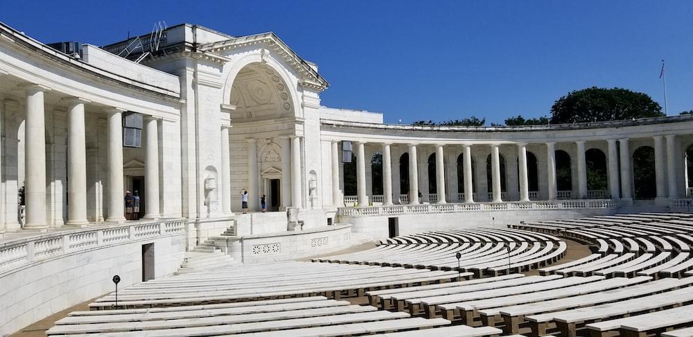 empty white amphitheater