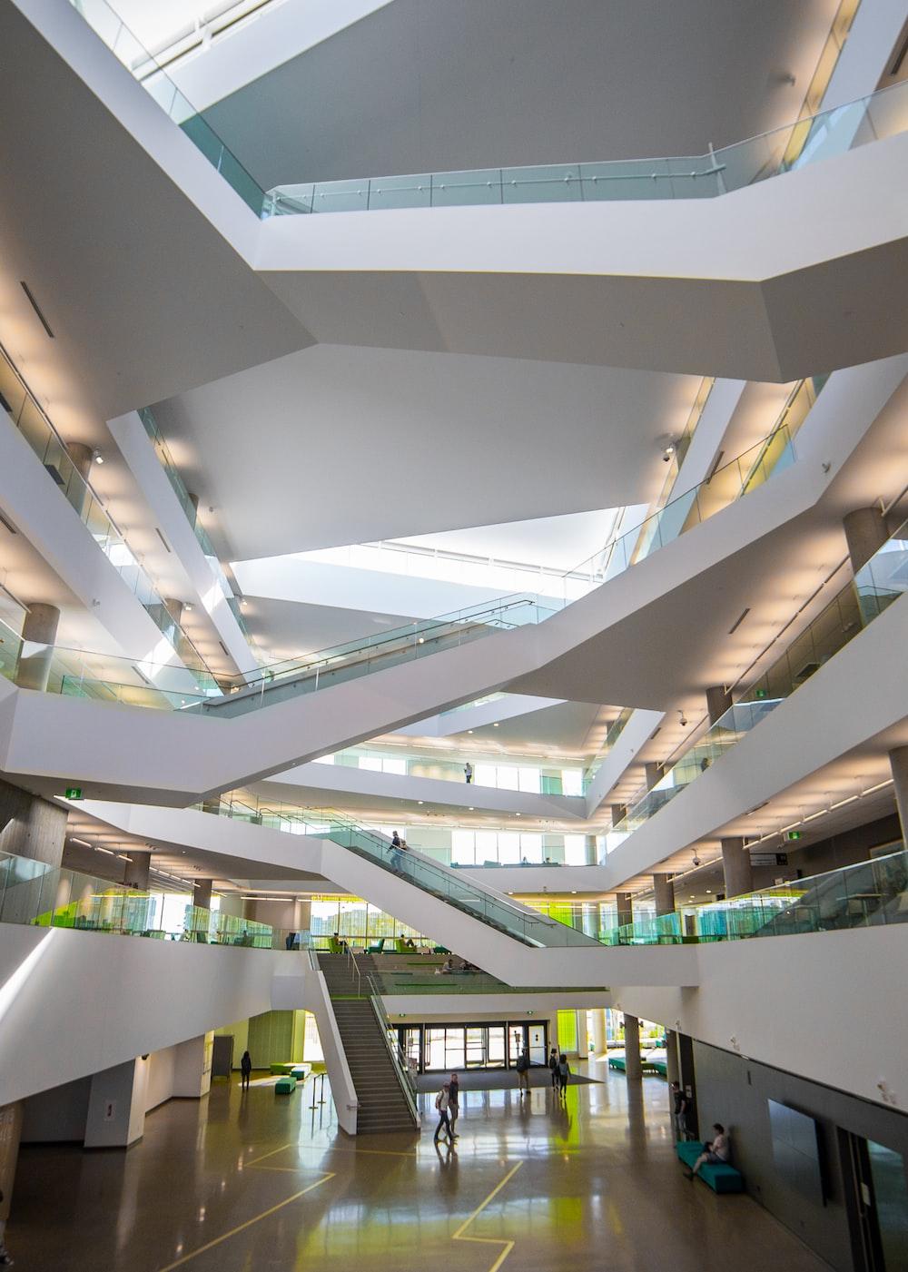 white concrete spiral stair
