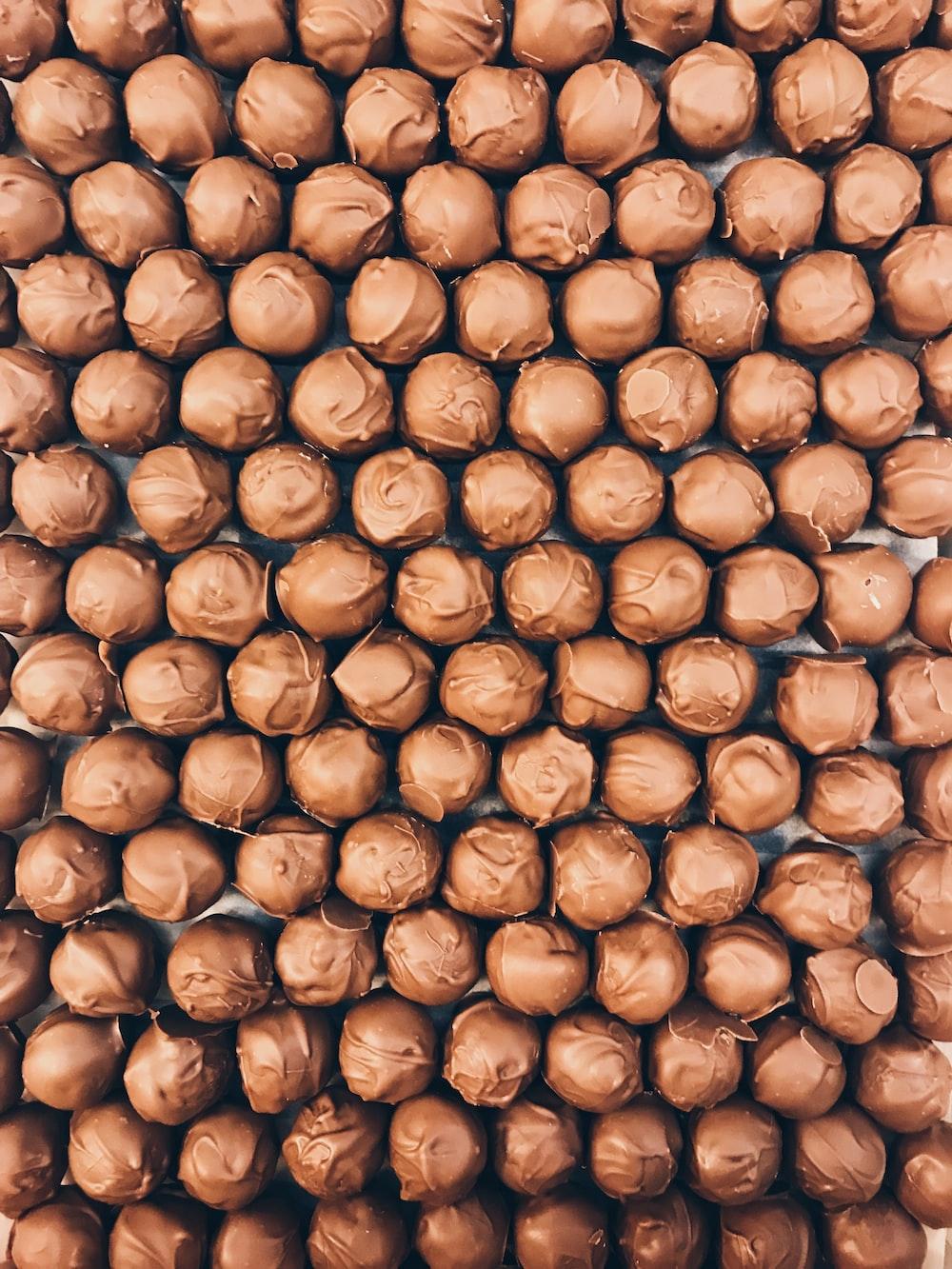 focus photography of chocolates