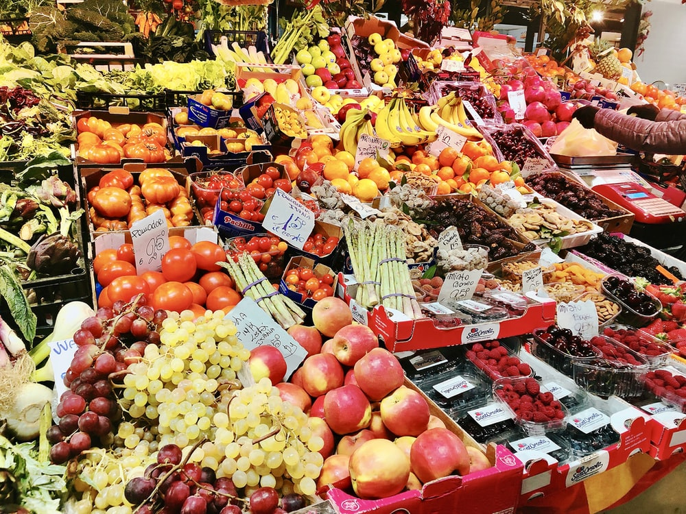 assorted fruits in store