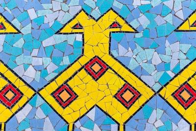 multicolored mosaic wall