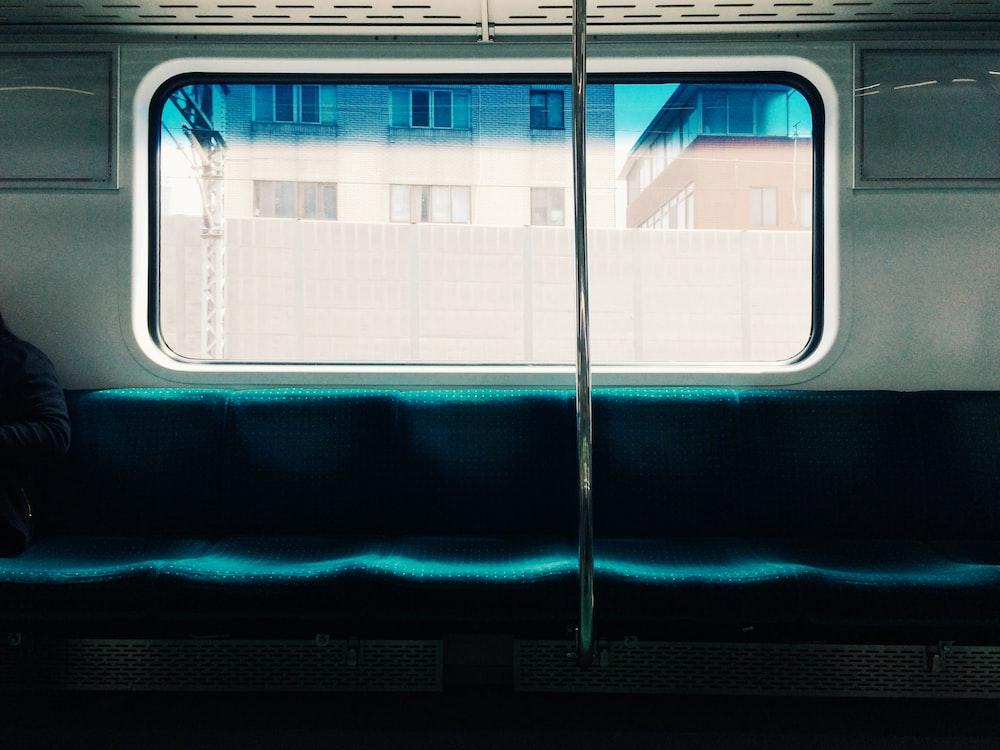 blue train chairs