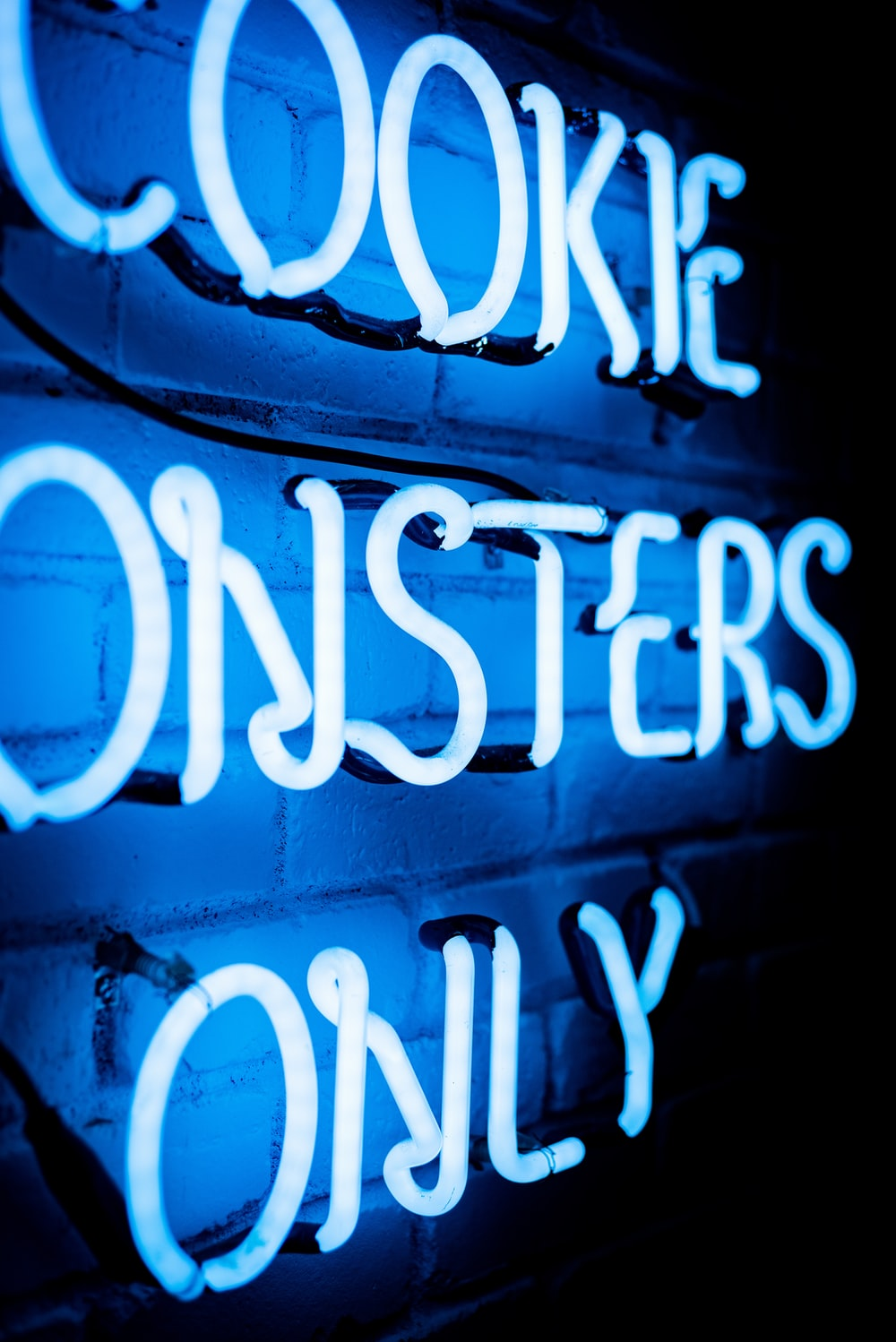 Cookie Monsters Only neon signage light