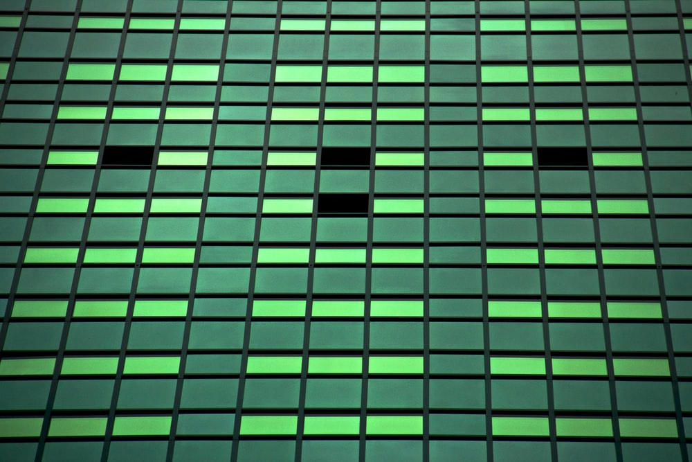 green tinted building