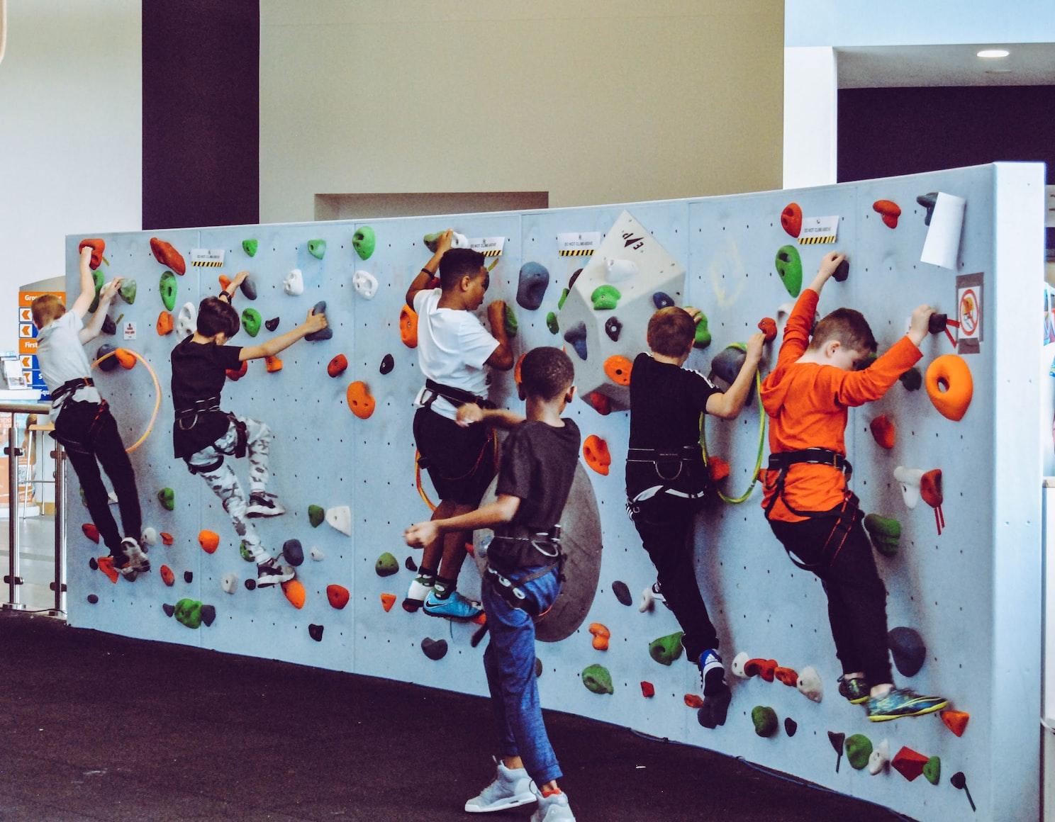 kids on test climb