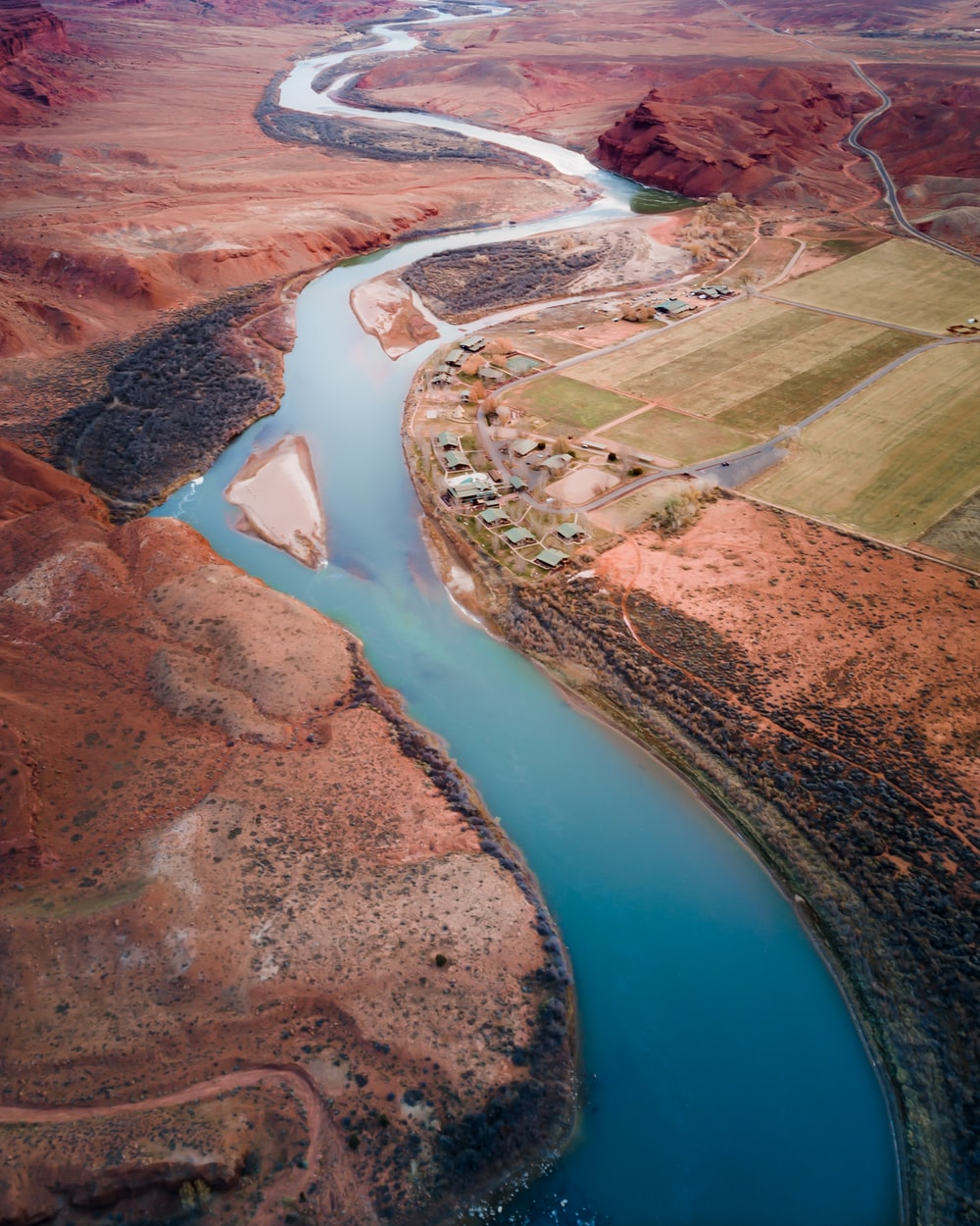 aerial photography of river during daytime
