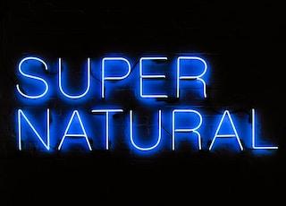 blue supernatural neon signage