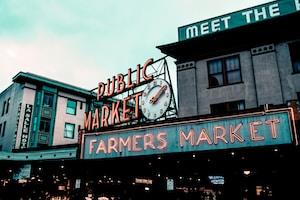 Public Market Farmers Market LED sign