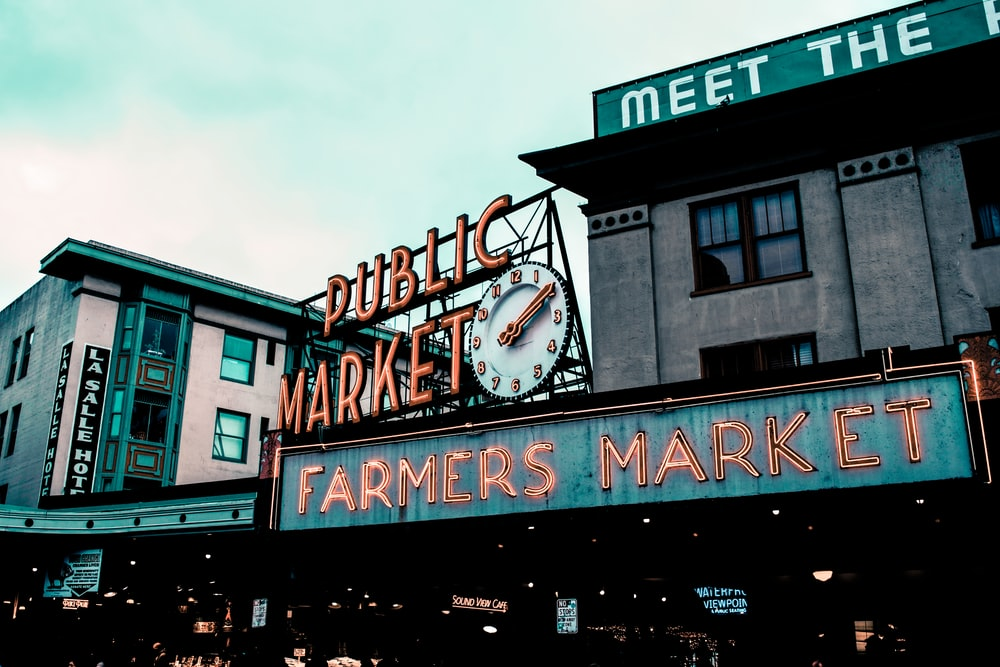 Public Market Farmers Market LED sign