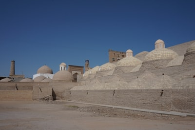 gray and white dome building during daytime uzbekistan zoom background