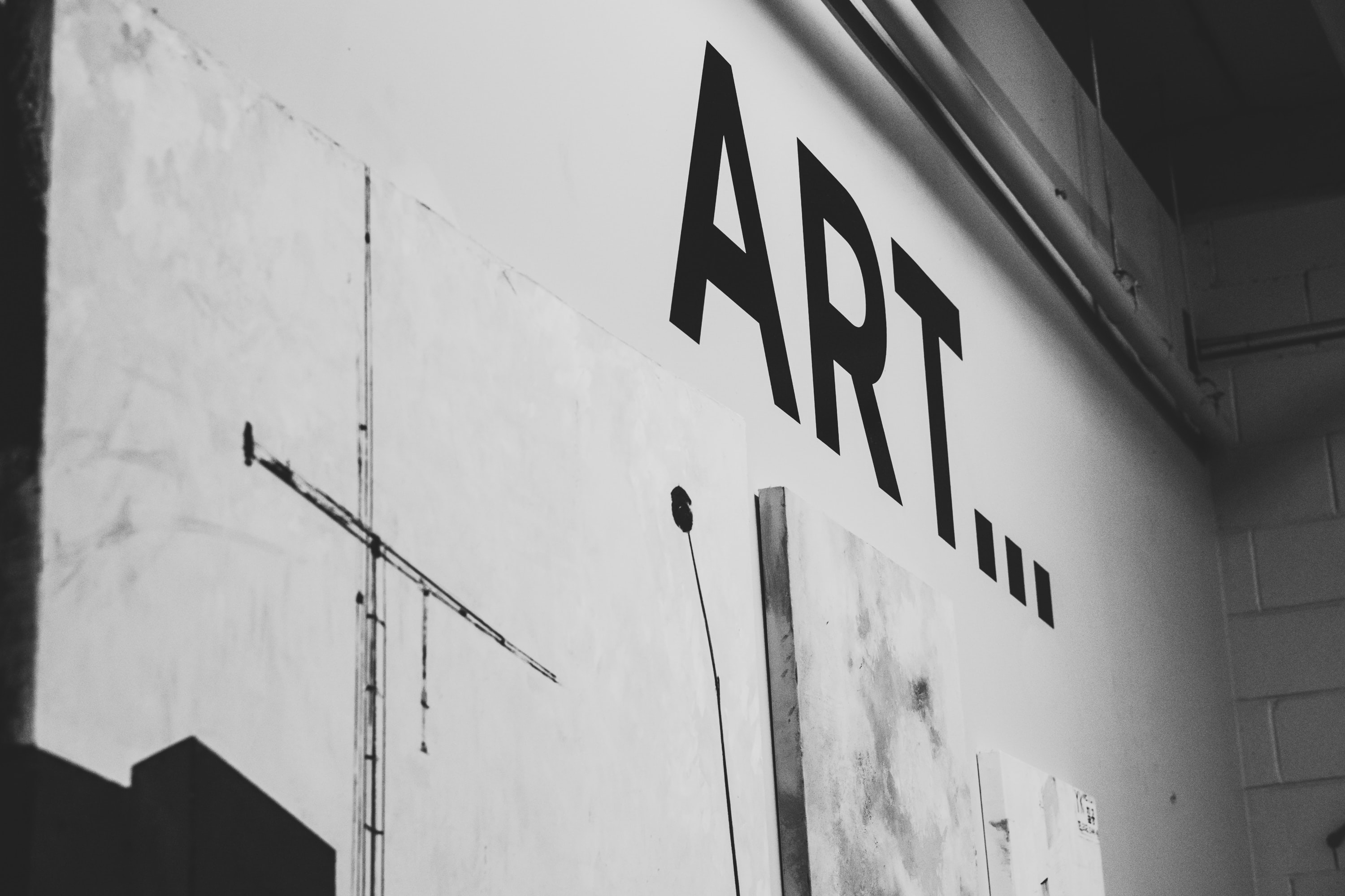 art text on wall