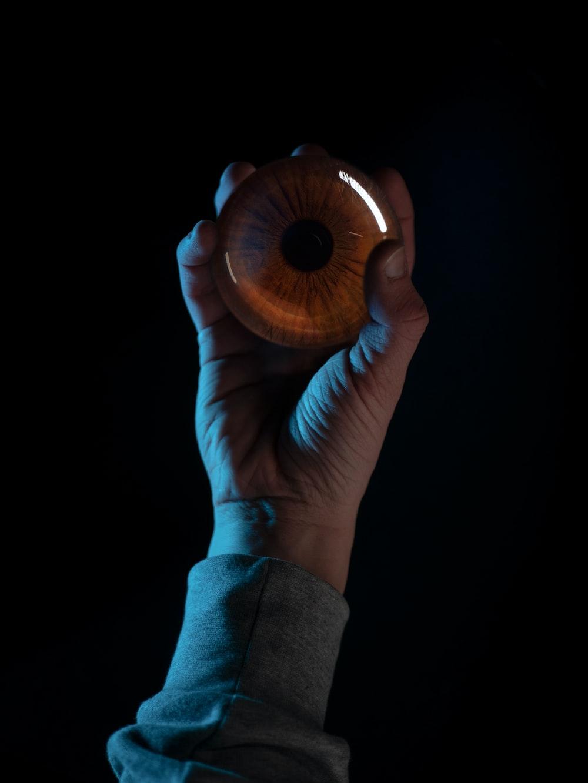 brown artificial eye