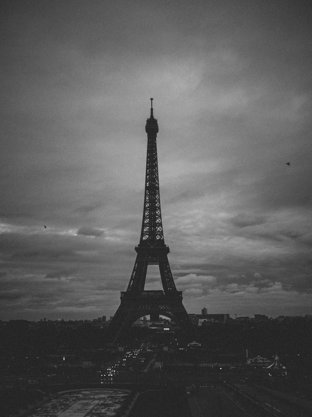 grayscale photography of Eiffel tower Paris