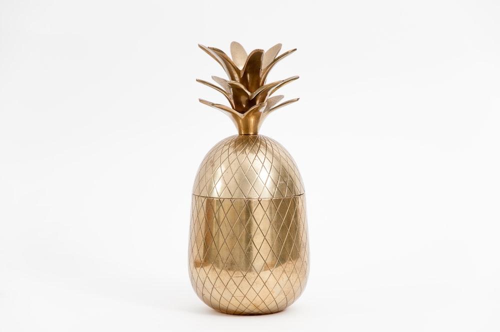 brown floral vase