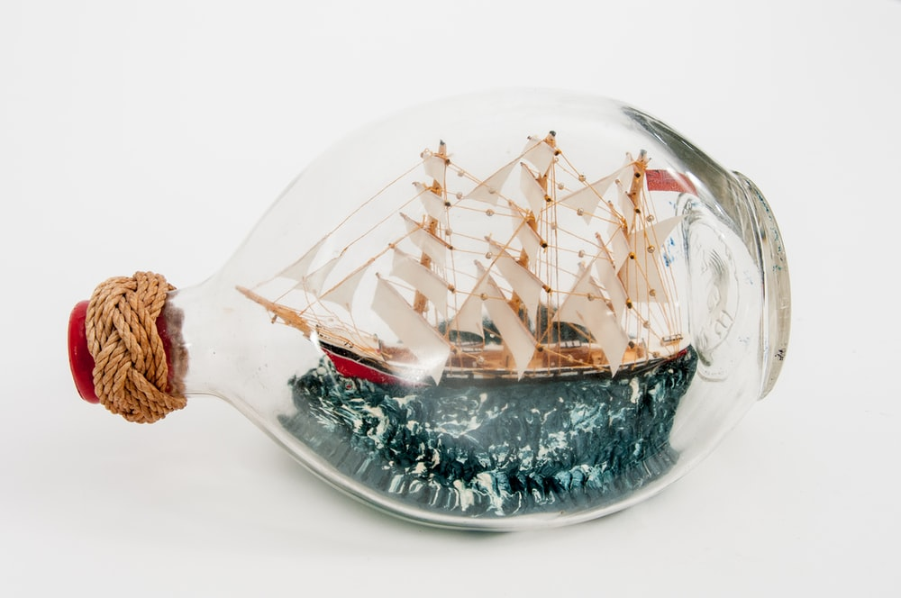 galleon ship inside bottle