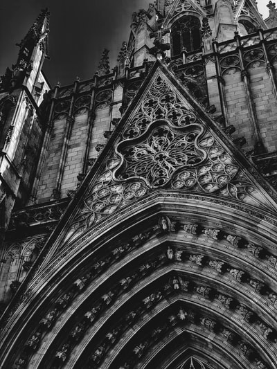 black and white cathedral photo