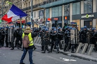 Act XII of yellow vest protest in Paris