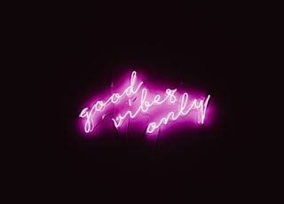 good vibes only neon signage